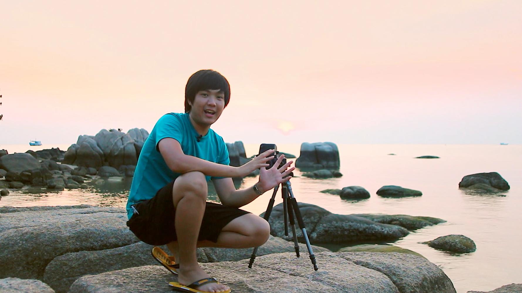 ถ่ายภาพพระอาทิตย์ตก, ถ่าย sunset, long exposure